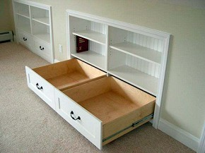 "Gain more storage by recessing a chest of drawers into what is called the ""knee wall"